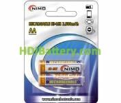 Batería recargable cilíndrica AA-RC06 2500mAh NI-MH